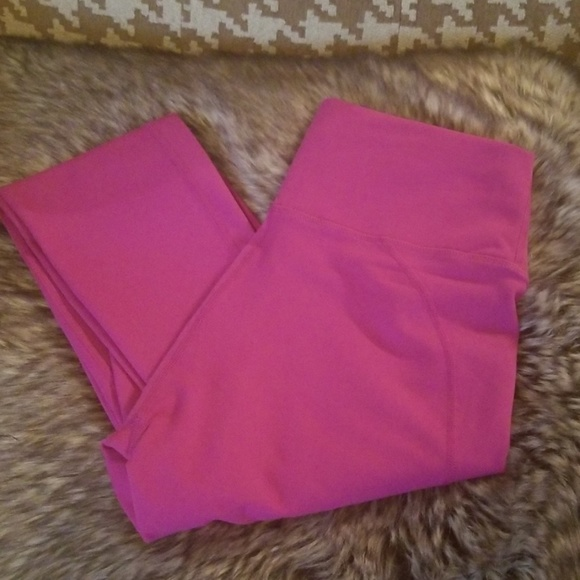 Fabletics Pants - Fabletics High Waisted Hot Pink Leggings Small